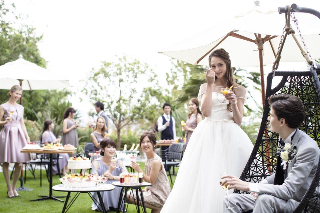 香川県高松市の小さな結婚式相談カウンターマリマリコンシェルジュのガーデンウエディングのイメージ