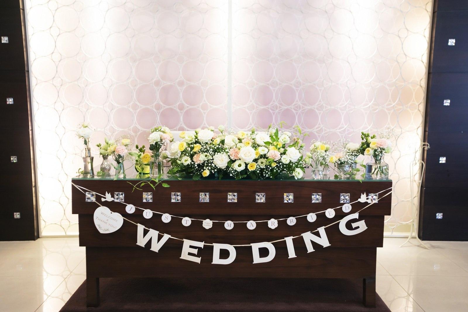 香川県高松市の小さな結婚式相談カウンターマリマリコンシェルジュのご紹介式場で高砂の装飾