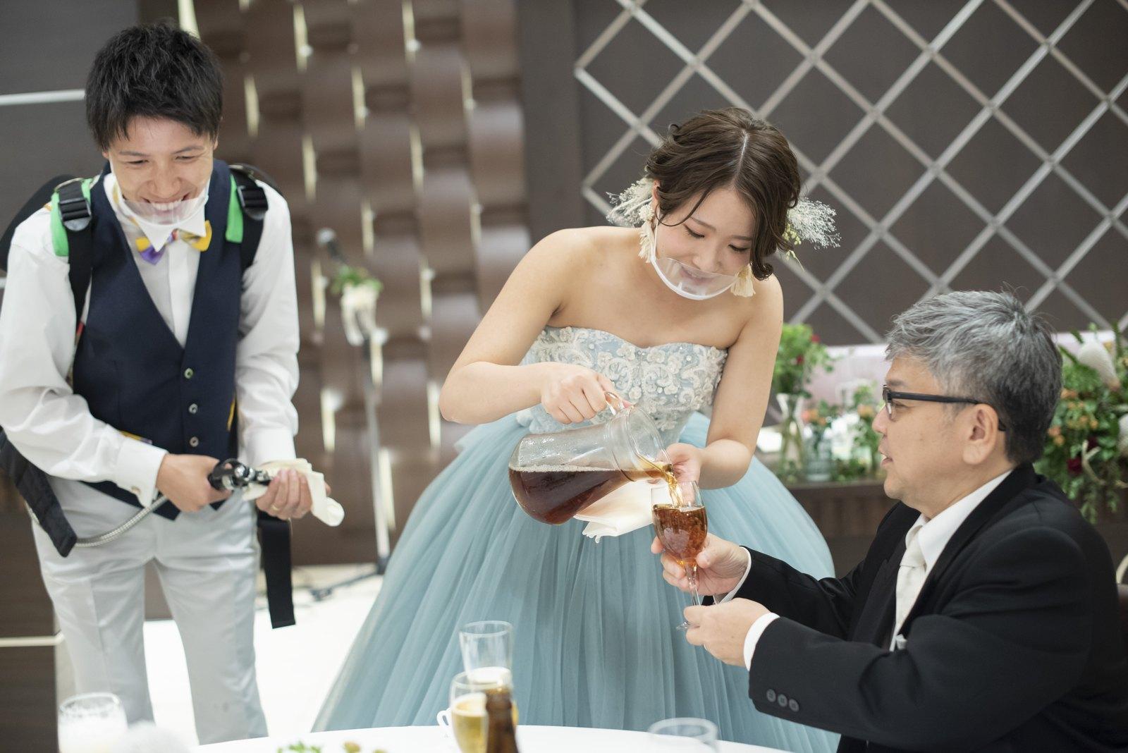 高松市の結婚式場アイルバレクラブ ビアサーブ