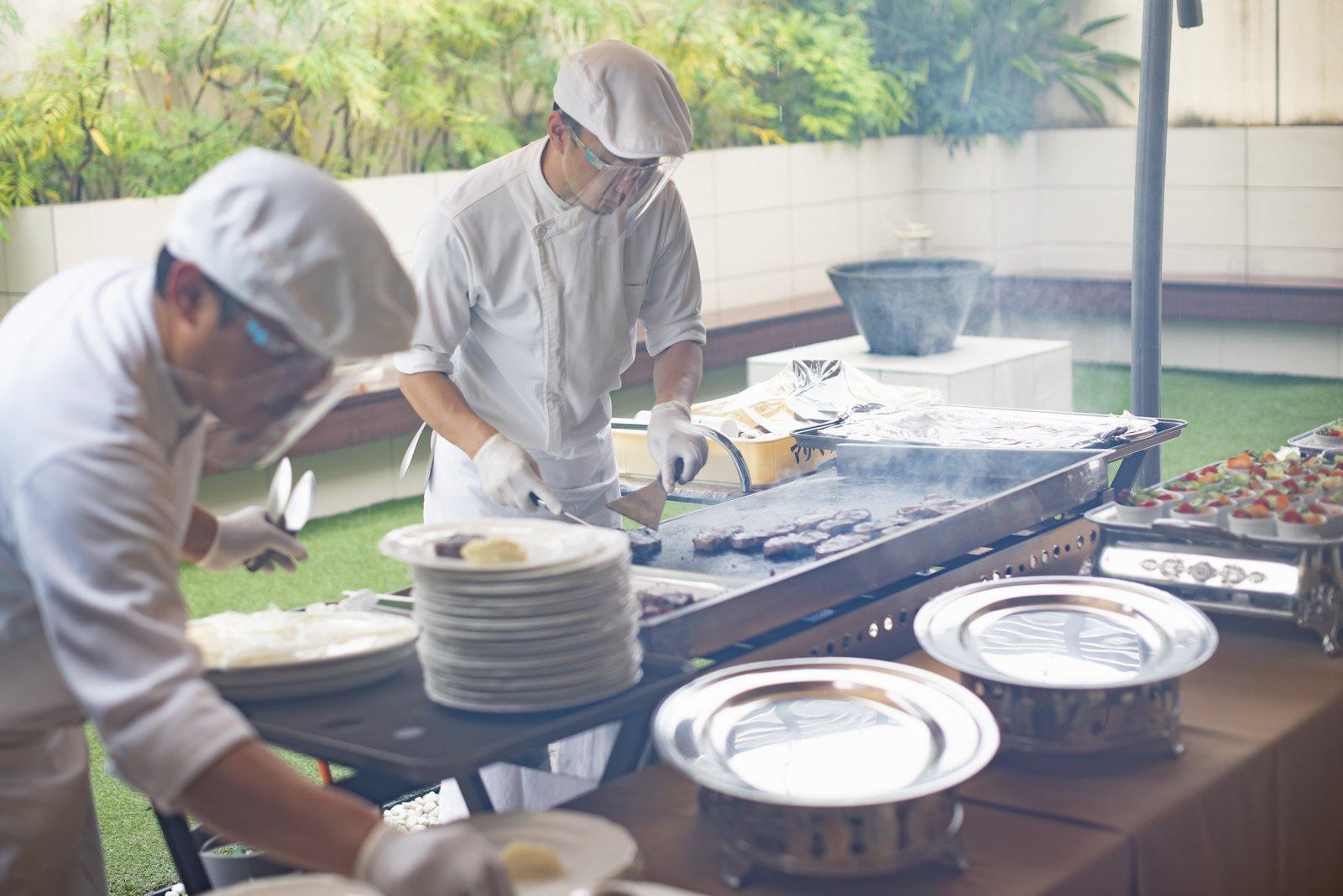 高松市の結婚式場アイルバレクラブ お肉の鉄板焼き